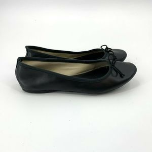 J.Crew Classic Ballet Flats In Matte Black Size 7